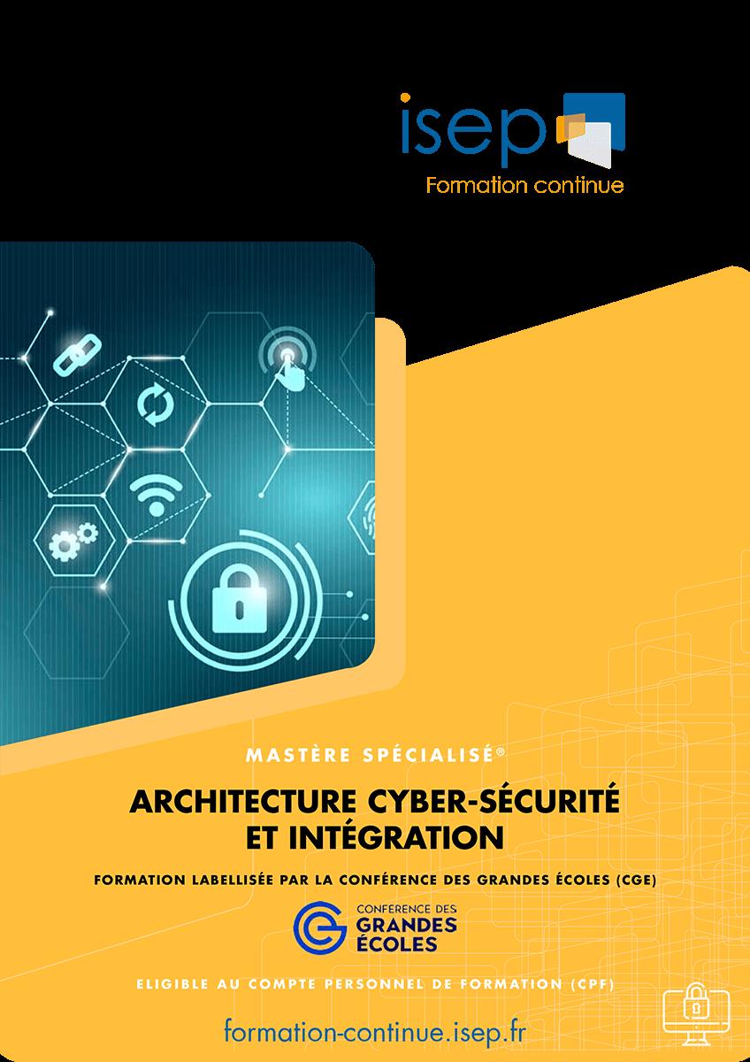 Brochure Mastère Architecture Cybersécurité et Intégration